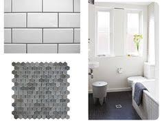 Hexagon Tile Bathroom Floor by Secondary Bathroom Floors Grey Hex Tile With Lt Grey Grout