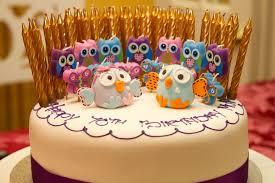 owl birthday cakes owl birthday cake chic party ideas