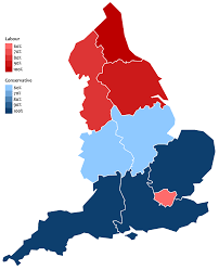Uk Election Map by Political Leanings Of English Regions In The Last 10 General