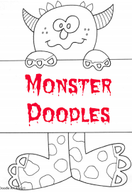 halloween printable bookmarks monster doodles grandma ideas