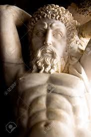 dionysus greek god statue marble carving of dionysus or bacchus the greek god of wine stock