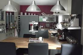 deco cuisine violet cuisine moderne pays idees de decoration