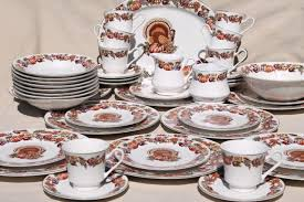 stoneware thanksgiving china dinnerware w turkey fall