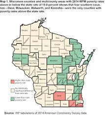 Wisconsin City Map by Who Is Poor In Wisconsin Institute For Research On Poverty