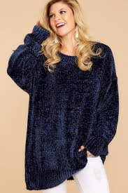 chenille sweater cozy chenille sweater navy blue sweater sweater 48 00