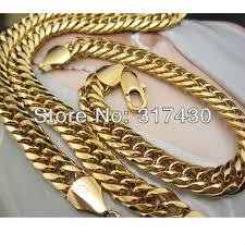 gold filled necklace chains images Online cheap wholesale heavy 24k yellow gold filled men 39 s necklace jpg