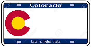 State Flag Of Colorado Colorado State License Plate In The Colors Of The State Flag
