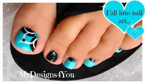 baby blue floral toenail art pedicure tutorial youtube