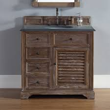 Bathroom Vanities With Top by Savannah 36 Inch Bathroom Vanity In Driftwood Finish Black Rustic