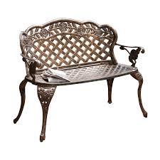 Vintage Cast Aluminum Patio Furniture - bar furniture iron patio bench metal patio furniture outdoor