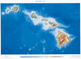Hawaii State Map by Hawaii State Physical Map