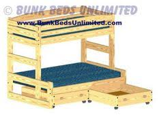 Free Bunk Bed Plans Twin Over Full by Twin Over Queen Bunk Bed I U0027d Turn The Top Bunk Into Storage Space