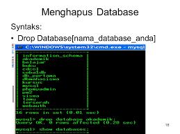 membuat database akademik dengan mysql database mysql ppt download