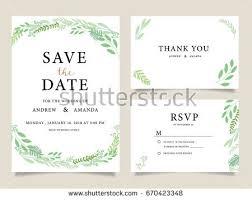 wedding invite invitation menu rsvp thank stock vector 724418677
