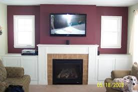 Tv On Wall Ideas by How Should I Run Wiring For My Above Fireplace Mounted Tv Home
