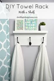 bathroom towel holder ideas diy towel rack with a shelf towels happiness and shelves