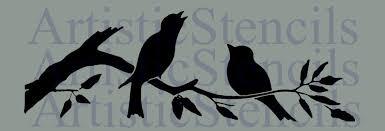 birds on branch stencil 10x3 3 artistic stencil designs