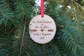 our first christmas ornament mr and mrs ornament personalized tree