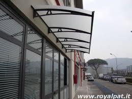 pensilina tettoia in policarbonato plexiglass pensiline in alluminio ferro acciaio inox legno policarbonato