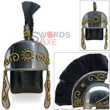 roman centurion officers galea helmet forged 18g carbon steel hair