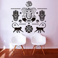 Aliexpress Home Decor Aliexpress Com Buy Wall Decals Buddha Hand Hamsa Elephant Indian