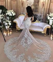 chapel wedding dresses retro sparkly 2017 wedding dresses sheer mermaid beaded lace high