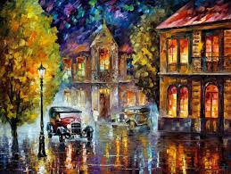 Los Angeles Home Decor Los Angeles 1930 U2014 Palette Knife Oil Painting On Canvas By Leonid