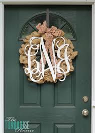 monogram wreath wooden monogram wreath the turquoise home
