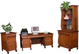 Solid Oak Desk With Hutch by Amish Furniture Hand Crafted Solid Wood Desks Amish Traditions