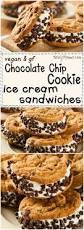 vegan and gluten free chocolate chip cookie ice cream sandwiches