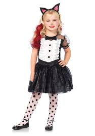 Black Halloween Costumes Girls Child Tuxedo Kitty Costume