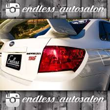 red subaru sedan 08 14 subaru impreza wrx sti sedan tail light overlays endless
