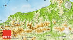 algeria physical map physical map of jijel