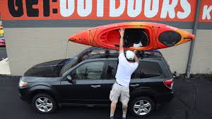 nissan murano kayak rack kayak cartopping using a basic rack or foam blocks youtube