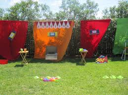 Ideas For Backyard Party by For My Daughter U0027s 8th Carnival Birthday Party We Strung A Rope