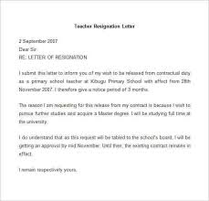 resign letter sample word format resignation letter example 10