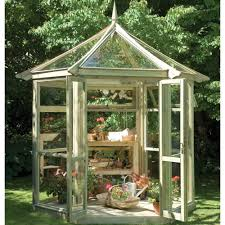 Garden Shed Greenhouse Plans This Stylish Tanalised Wooden Potting Shed Greenhouse From