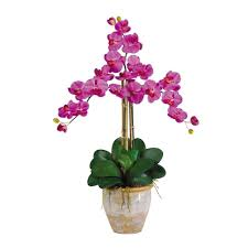 orchid flower arrangements nearly 27 in stem phalaenopsis silk orchid flower