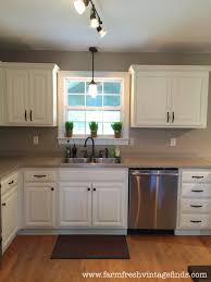 reclaimed white oak kitchen cabinets painted oak kitchen cabinet reveal farm fresh vintage finds