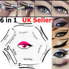 6 in1 eyeliner stencils template smoky cat eye liner makeup guide