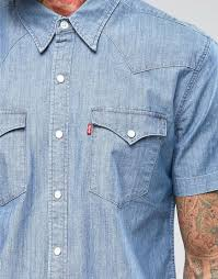 light stone washed mens jeans suitable levis denim shirt barstow western slim fit short sleeve