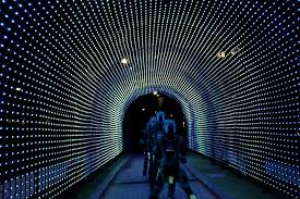 led light installation near me thousands of led lights create a tunnel of hopes