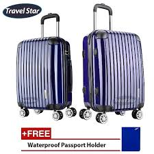 Awesome Travelstar Tires Review Travel Star X02 Premium Luggage Set 20 24inch Navy Blue