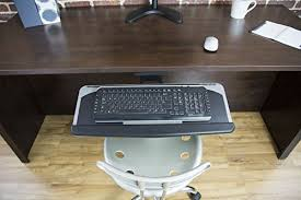 Under Desk Mount Vivo Adjustable Computer Keyboard U0026 Mouse Platform Tray Ergonomic