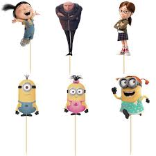 minions cake toppers aliexpress buy 24pcs despicable me gru minion cup cake