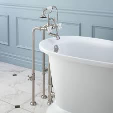 freestanding telephone tub faucet supplies valves and drain