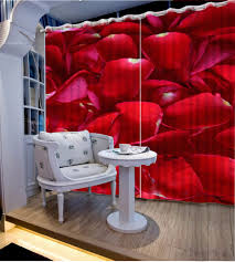 online get cheap red curtains living room aliexpress com customize 3d curtains for living room red rose petals short curtains for kitchen window photo curtains