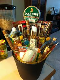 football gift baskets the bouquet it includes various bottles of cigars