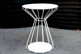white outdoor side table metal outdoor side table home stars outdoor side table mike ferner