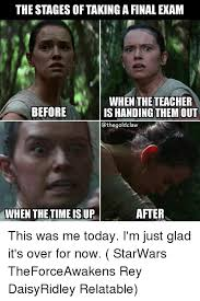 Memes About Final Exams - the stages of taking a final exam when the teacher before is